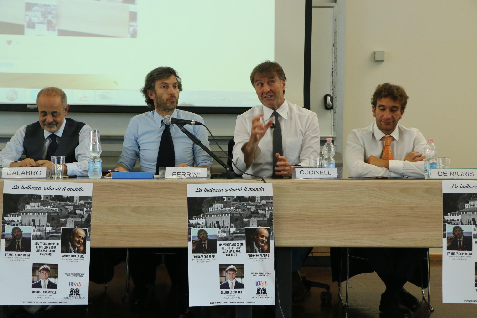"Brunello Cucinelli – ""Beauty Will Save The World"" – Bocconi Students"